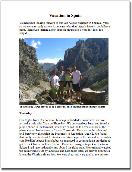 Vacation in Spain 2006 PDF