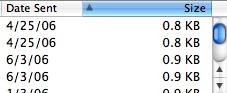 Apple Mail.app ascending