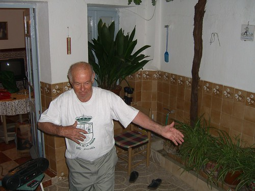 Grandpa dances alone