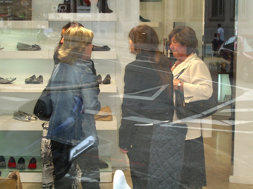 Shoe shopping.  Yawn!