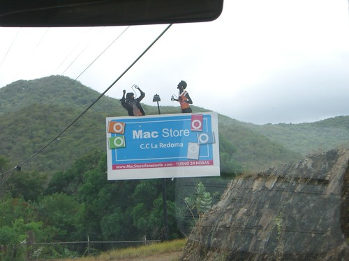 Mac store billboard in Venezuela