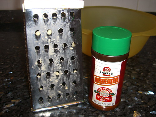 Bloodied Cheese Grater and Seasoning