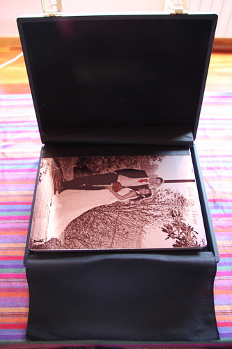 Wedding album case (open)
