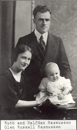 Ruth, Halfdan, and Glen Rasmussen
