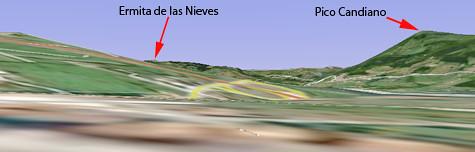 Ermita de las Nieves on Google Earth