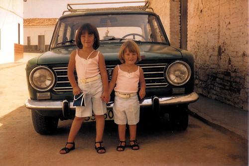 Marga and Belén With Car