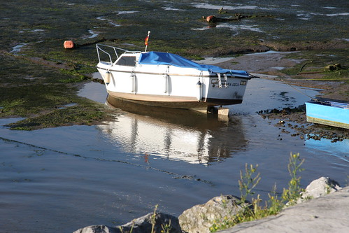 Tide coming in to lift boat