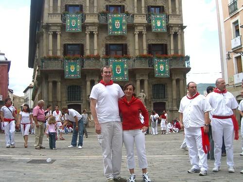 Erik and Marga in Pamplona