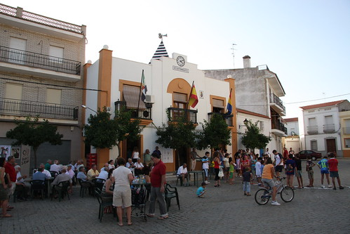 Town festivities at town hall
