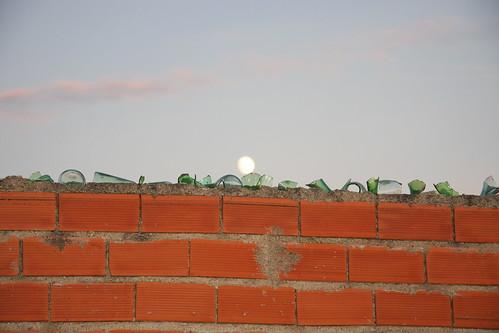 Moon Over Glass Shard Wall