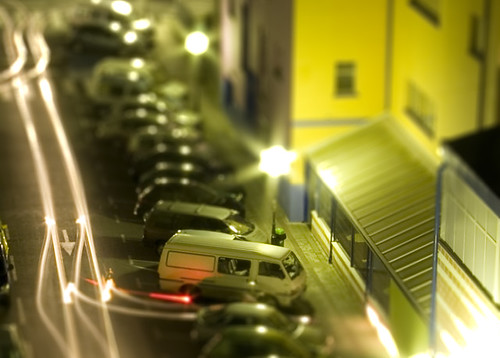 Tilt-shift Night Parking