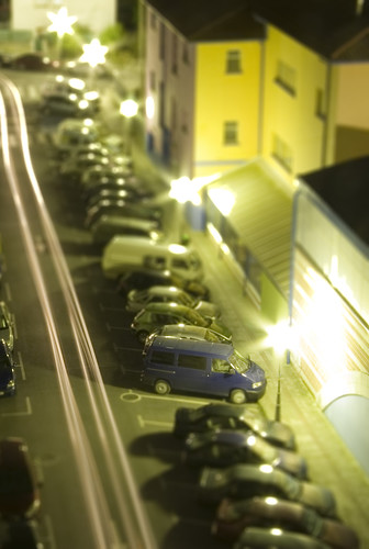 Tilt Shift Blue Van