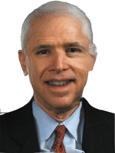 Barack Obama with John McCain's skin