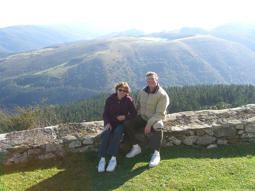 Betsy and Paul in mountains