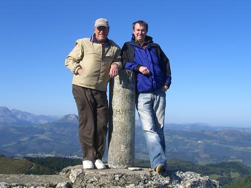 Paul and Erik on mountaintop