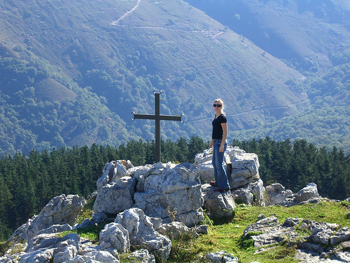 Ania by the cross