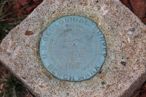 US Geological Survey Benchmark – Burkemont Mountain
