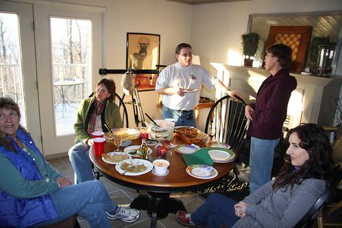 Cabin Party in Full Swing