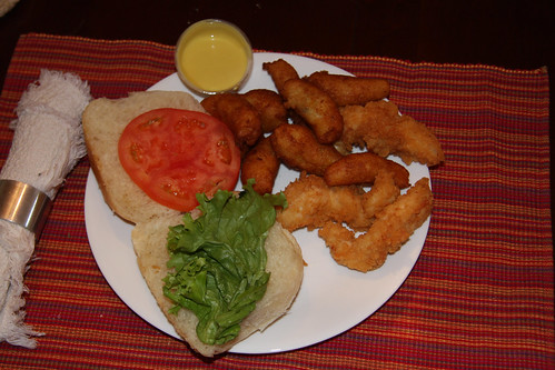 Chicken Fingers and Hushpuppies
