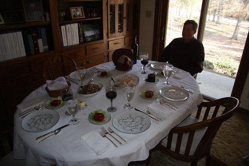 Paul ready for dinner to commence