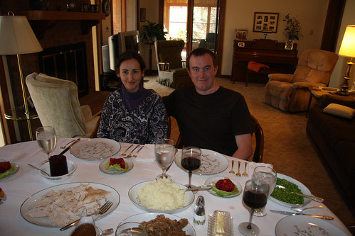 Erik and Marga on Thanksgiving Day