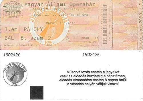 Opera Ticket