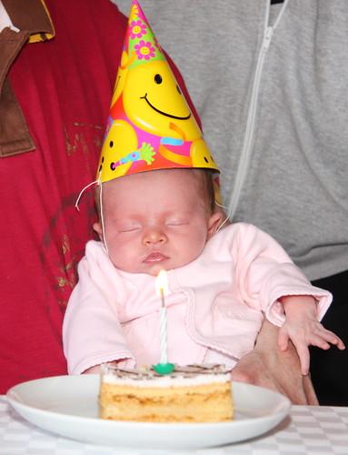 One Month Birthday Cake
