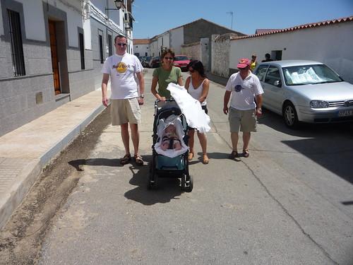 Walking through town