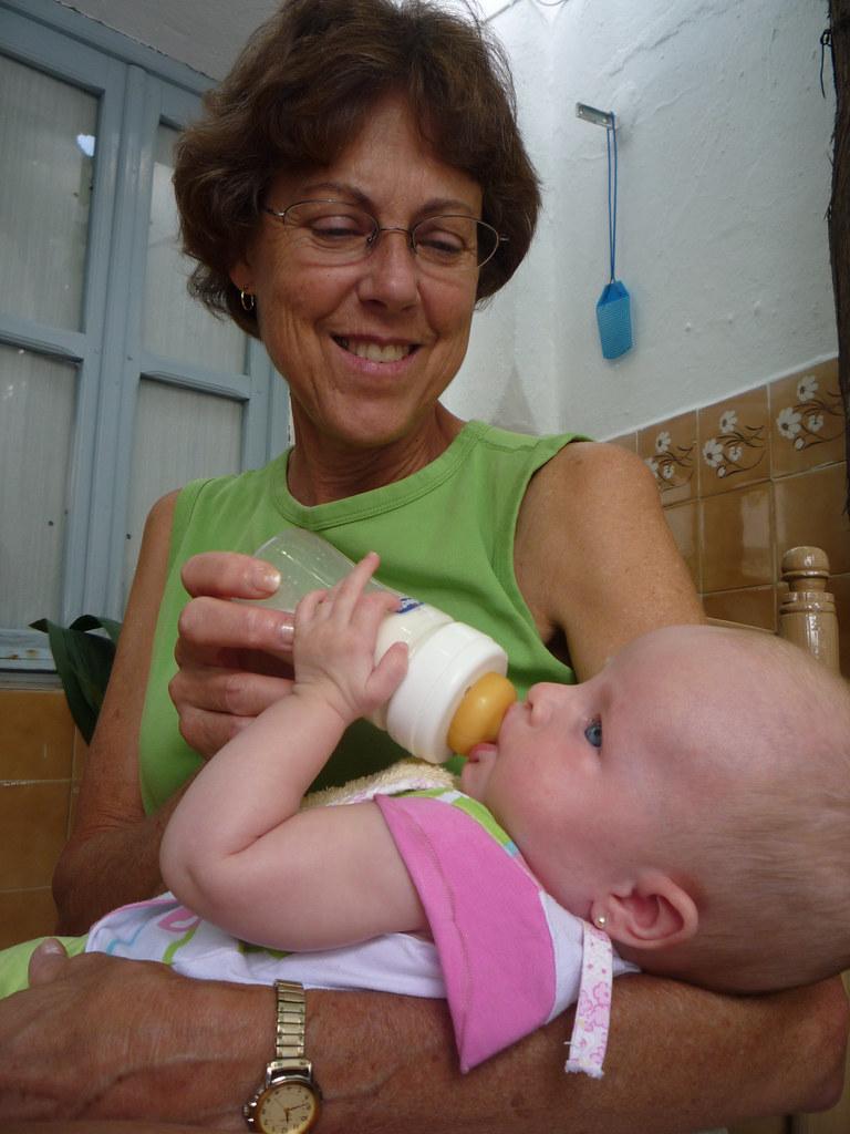 Betsy feeding Nora