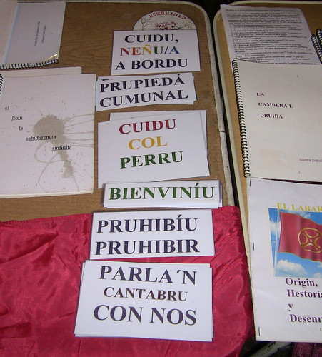 Cantabrian Language Signs