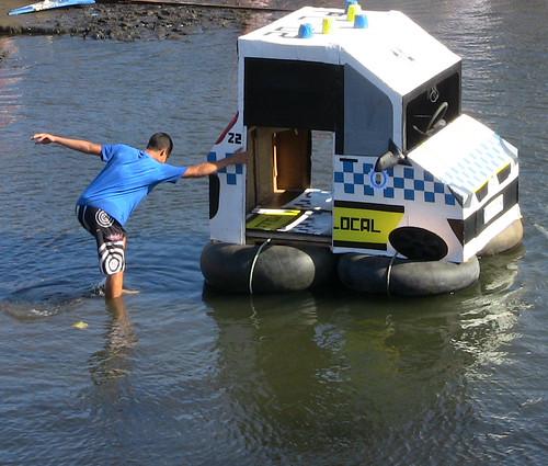 Floating Police Car