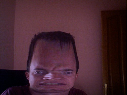 Photo Booth effects make me look like Quentin Tarantino