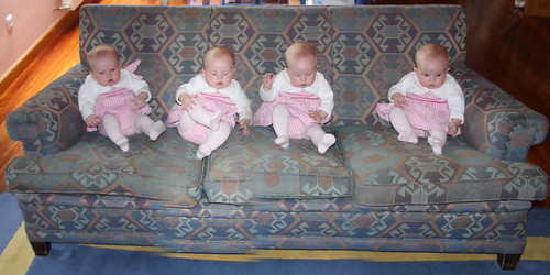 Four Noras on the Sofa