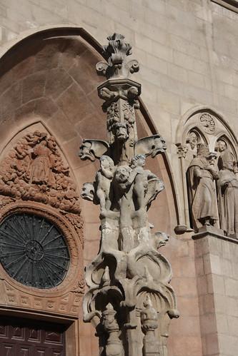 Weird Gargoyle Pillar