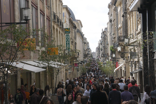 Longest Pedestrian Street in Bordeaux