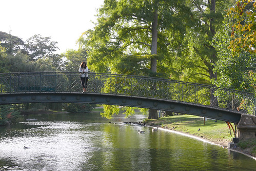 Marga on park bridge
