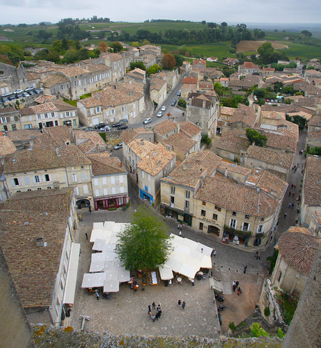 Looking Down From Saint Emilion Bell Tower
