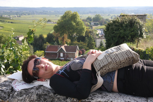 Resting out outskirts of medieval Saint Emilion