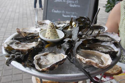 Nine Raw Oysters