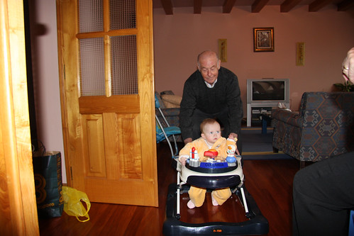 A push from Great Grandpa