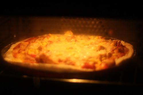 Thanksgiving Pizza (oven shot)