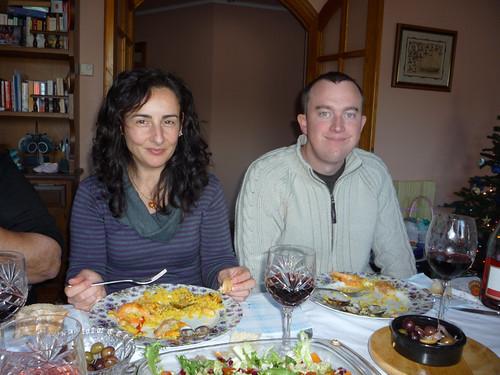 Happy Paella-Eating Couple