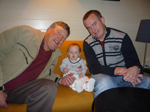 Hanging out with Dad and Grandpa