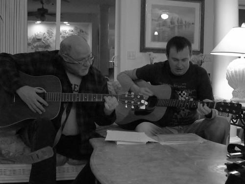 Jeff and Erik making music