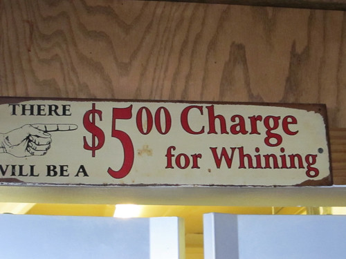 $5.00 charge for whining
