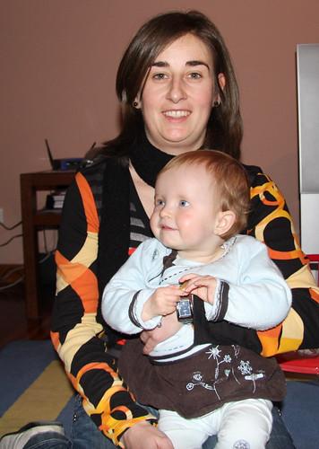 With Aunt Belén