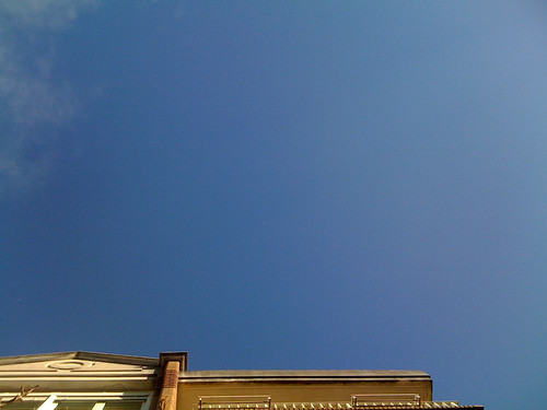 Empty sky from which rain was falling