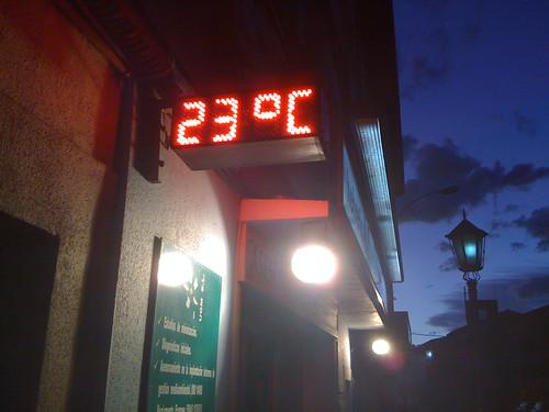 23 C in February