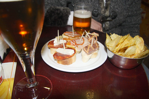 Snacks with beer