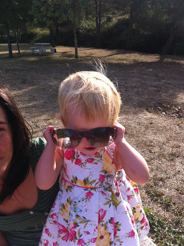 Playing with Mommy's Sunglasses